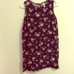 Navy floral sheath dress
